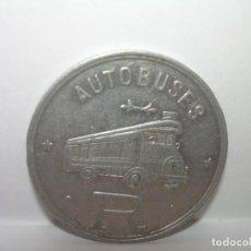 Billetes locales: FICHA DINERARIA DE ALUMINIO....AUTOBUSES..R...20 C.. Lote 192985690