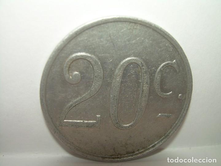 Billetes locales: FICHA DINERARIA DE ALUMINIO....AUTOBUSES..R...20 C. - Foto 2 - 192985690