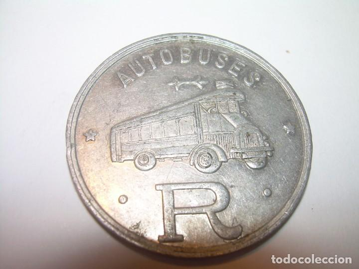 Billetes locales: FICHA DINERARIA DE ALUMINIO....AUTOBUSES..R...20 C. - Foto 3 - 192985690