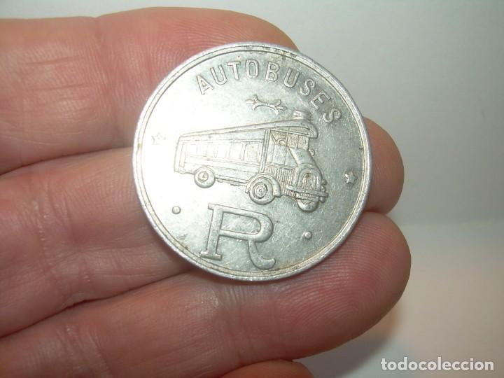 Billetes locales: FICHA DINERARIA DE ALUMINIO....AUTOBUSES..R...20 C. - Foto 6 - 192985690