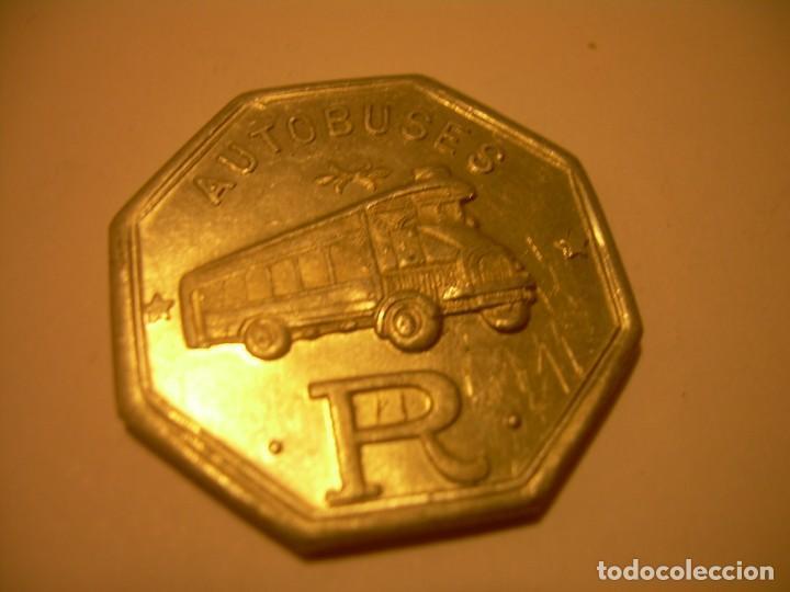 Billetes locales: FICHA DINERARIA DE ALUMINIO....AUTOBUSES..R...15 C. - Foto 3 - 192985738