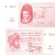 Billetes locales: MALAGA 1 AXARCO 1988 SC/UNC. Lote 194189148