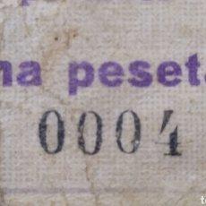 Billetes locales: BILLETE LOCAL 1 PESETA BENILLOBA (ALICANTE). Lote 194735588
