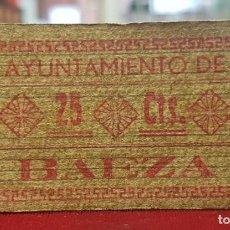 Billetes locales: ESPAÑA BILLETE LOCAL BAEZA JAÉN 25 CÉNTIMOS 1936-1937 BC F. Lote 195142273