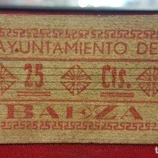 Billetes locales: ESPAÑA BILLETE LOCAL BAEZA JAÉN 25 CÉNTIMOS 1936-1937 MBC VF. Lote 195143773