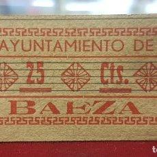 Billetes locales: ESPAÑA BILLETE LOCAL BAEZA JAÉN 25 CÉNTIMOS 1936-1937 EBC XF. Lote 195143972