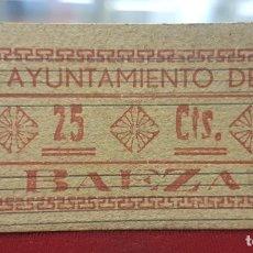 Billetes locales: ESPAÑA BILLETE LOCAL BAEZA JAÉN 25 CÉNTIMOS 1936-1937 EBC+ XF+. Lote 195144005