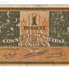 Billets locaux: MANRESA - 1 PESSETA / PESETA. Lote 195336727