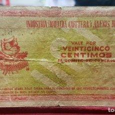 Billetes locales: ESPAÑA BILLETE LOCAL JAÉN 25 CÉNTIMOS 1937 MBC- AVF. Lote 195384283