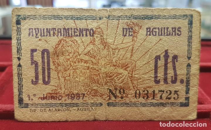 Billetes locales: España Billete local Aguilas Murcia 50 Céntimos 1937 BC F - Foto 2 - 195401112