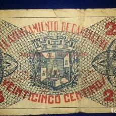Billetes locales: BILLETES LOCALES AYUNTAMIENTO DE CARTAGENA, MURCIA. Lote 195471718
