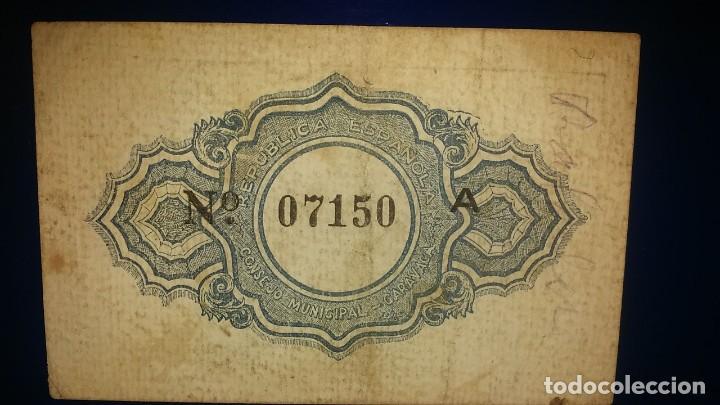 Billetes locales: CONSEJO MUNICIPAL DE CARAVACA. - Foto 2 - 195475643