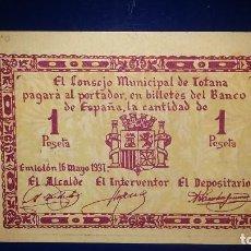 Billetes locales: EL CONSEJO MUNICIPAL DE TOTANA. (MURCIA). Lote 195478830