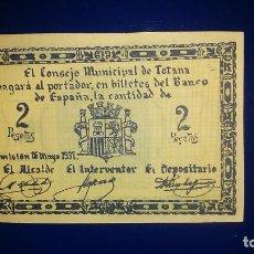 Billetes locales: EL CONSEJO MINICIPAL DE TOTANA. (MURCIA). Lote 195479350