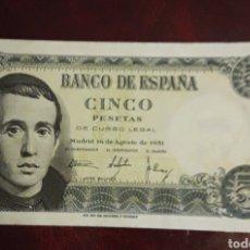 Billetes locales: BILLETE ANTIGUO DE 5 PESETAS 1951 S/C. Lote 198720211