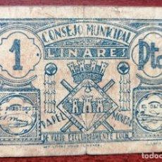 Billetes locales: BILLETE DE 1 PESETA DEL CONSEJO MUNICIPAL DE LINARES (JAÉN). Lote 199111726