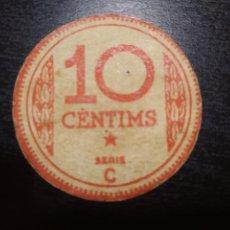 Billetes locales: BILLETE LOCAL 10 CÉNTIMOS MANRESA (BARCELONA). Lote 199706446