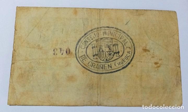 Billetes locales: BILLETE 25 CTS HUESCA AÑO 1937 - GUERRA CIVIL - Foto 2 - 201313630