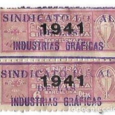 Billetes locales: SINDICATO INDUSTRIAS GRAFICAS AÑO 1941 . Lote 201782943