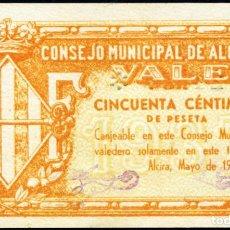 Billetes locales: ALCIRA (VALENCIA) - 50 CENTIMOS 1937 - SERIE A - APROX. S/C-. Lote 203267166