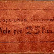 Billetes locales: COOPERATIVA COMAMALA - SAN JOAN DE LES ABADESSES - GIRONA - 25 PTS. Lote 203593630