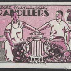 Billetes locales: J.B. BILLETE DE GRANOLLERS , 25 CÉNTIMOS , SÉRIE 12 , MONTANER: 732 A , TURRÓ: 1356 I. Lote 203856568