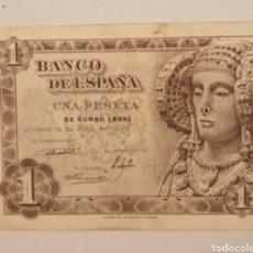 Billetes locales: ESPAÑA. BILLETE DE 1 PESETA 1948 SERIE Ñ. SE MANDA EL DE LA FOTO. Lote 204633175