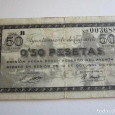 Billetes locales: 50 CENTIMOS DE TAMARITE. Lote 205453227