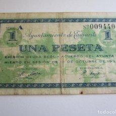 Billetes locales: 1 PESETA DE TAMARITE DE LA LITERA. Lote 205453295