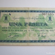 Billetes locales: 1 PESETA DE TAMARITE DE LA LITERA. Lote 205453530