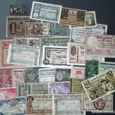 Billetes locales: LOTE DE 30 BILLETES LOCALES DE CATALUÑA. Lote 207225377