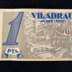 Billetes locales: VILADRAU 1 PESSETA PLANCHA. Lote 207243286