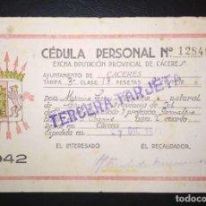 Billetes locales: 13 PESETAS DE CACERES 1942, MUY RARO EJEMPLAR. Lote 208141448