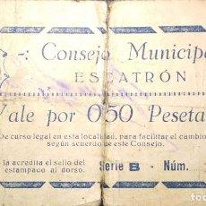 Billetes locales: 0,50 PESETAS ESCATRÓN (ZARAGOZA). Lote 208141757