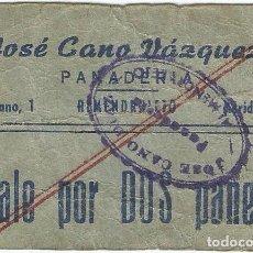 Billetes locales: ESPAÑA - SPAIN VALE POR 2 PANES ALMENDRALEJO (BADAJOZ). Lote 208317860