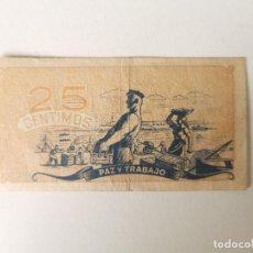 Billetes locales: ANTIGUO BILLETE LOCAL DE 25 CÉNTIMOS CONSEJO DE ASTURIAS Y LEON - ESPAÑA 1936. Lote 208350516