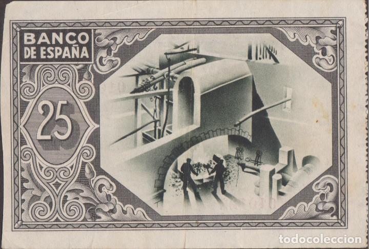 Billetes locales: BILLETES LOCALES - BILBAO - 25 PESETAS 1937 - SIN SERIE - (MBC) - Foto 2 - 209371511