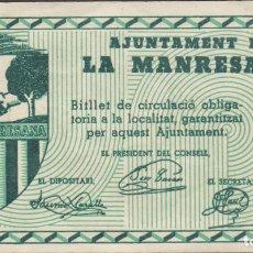 Billetes locales: BILLETES LOCALES - LA MANRESANA - LLEIDA - 1 PTA. S/F - T-1626B ( EBC ). Lote 209840835