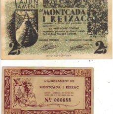 Banconote locali: L`AJUNTYAMENT DE MONTCADA I REIXAC - 2 VALORES. Lote 210260310