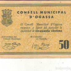 Banconote locali: CONSELL MUNICIPAL D´ OGASSA. Lote 210260955