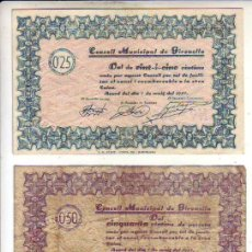 Billetes locales: CONSELL MUNICIPAL DE GIRONELLA 3 VALORES. Lote 210709824