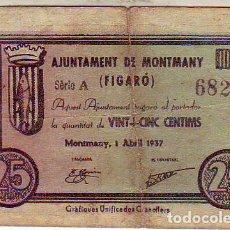 Billetes locales: AYUNTAMENT DE MONTMANY. Lote 210712189