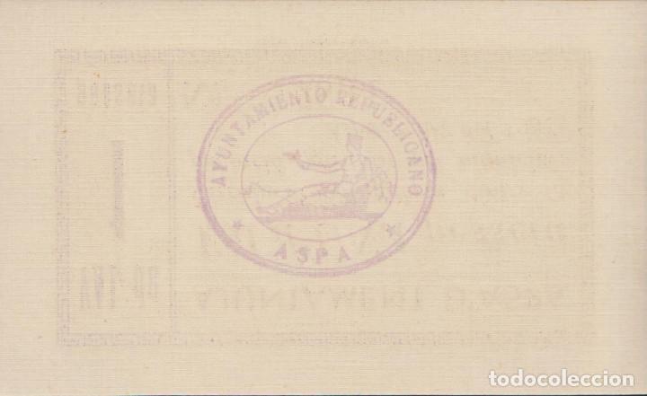 Billetes locales: BILLETES LOCALES - ASPA (LLEIDA) - 1 PESSETA 1937 - T-304A (SC) - Foto 2 - 213074288