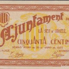 Billetes locales: BILLETES LOCALES - SEU D´URGELL - LLEIDA - 50 CÉNTIMS 1937 - T-2752A (SC). Lote 213075052