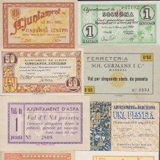 Billetes locales: BILLETES LOCALES - LOTE DE 10 BILLETES DE PUEBLOS, DIFERENTES (MBC/SC). Lote 213086931