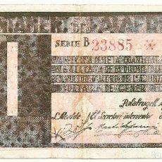 Billetes locales: PALAFRUGELL (GIRONA), BILLETE DE 1 PESETA, DE AGOSTO DE 1937. LOTE 1489. Lote 213713301
