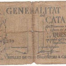 Billetes locales: BILLETE: 2,5 PESSETES 1936 GENERALITAT DE CATALUNYA. Lote 215274785