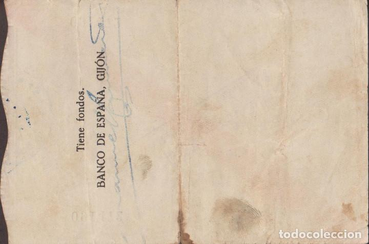 Billetes locales: BILLETES LOCALES - GIJÓN (ASTURIAS) 100 PESETAS 1936 - PG-407 (MBC-) - Foto 2 - 216642677