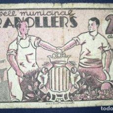 Billetes locales: B-66 BILLETE LOCAL 25 CÉNTIMOS DE 1937 GRANOLLERS. 100% ORIGINAL. EL DE LA FOTO. Lote 216865778