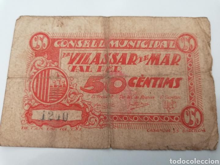 VILASSAR DE MAR. BARCELONA. 50 CENTIMS (Numismática - Notafilia - Billetes Locales)